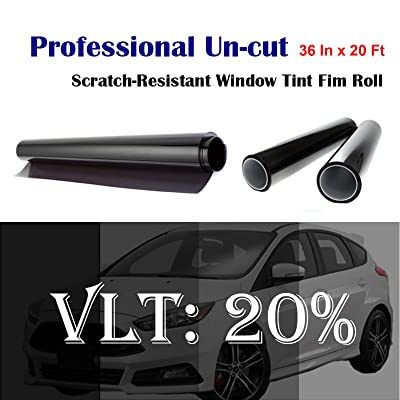 "Mkbrother Uncut Roll Window Tint Film 20% VLT 36"" in x 20' Ft Feet (36 X 240 Inch) Car Home Office Glass: Automotive"