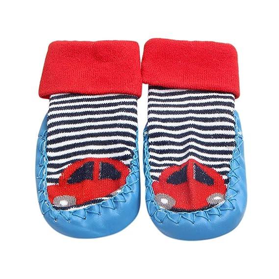 Calcetines Antideslizante Bebe Invierno K-youth Zapatos Calcetines para Bebé Niñas Niños 0-12 Meses Algodón Calcetines Bebé Recién Nacido Unisexo Infantil ...
