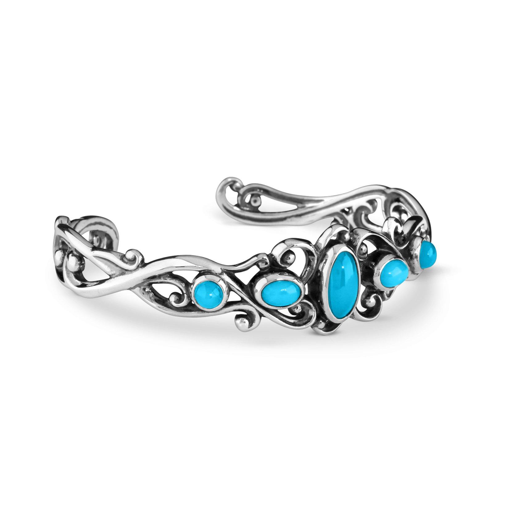 Carolyn Pollack Sleeping Beauty Turquoise Cuff Bracelet