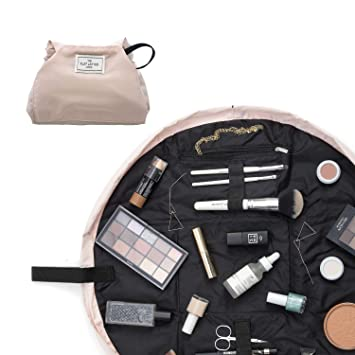 Make Up Bag   Lay Flat Travel Cosmetic Toiletry Case   Contents not  included (Everything   50cm, Blush Pink)  Amazon.co.uk  Beauty efd0622c18