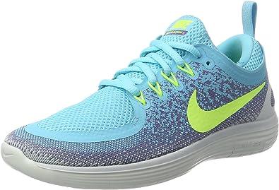 Nike Womens Free RN Distance 2 Running Shoe POLARIZED BLUEVOLT IRON PURPLE 9.5