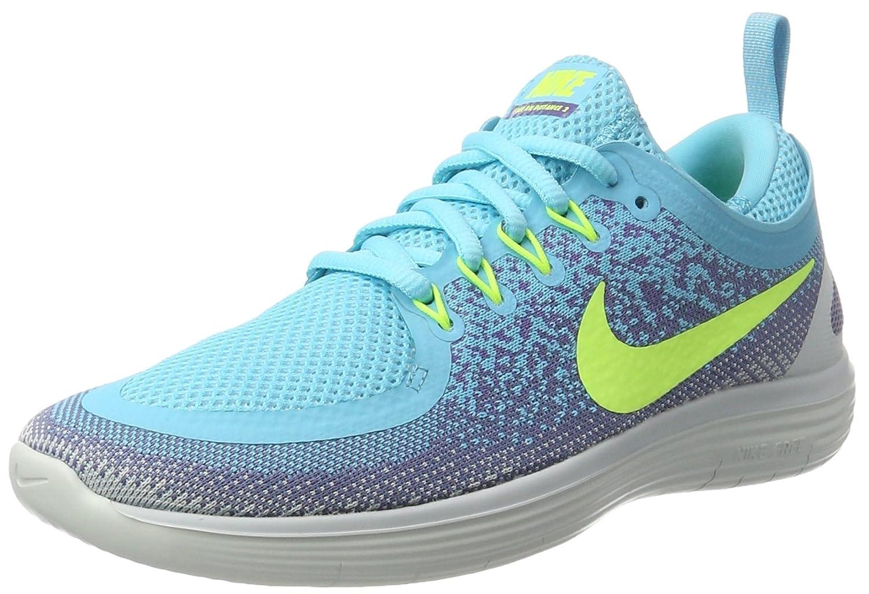 size 40 d294b 729d5 Nike Womens Free RN Distance 2 Running Shoe POLARIZED BLUE/VOLT-IRON PURPLE  9.5