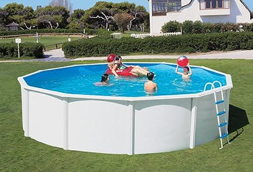 Acero Pared Platillos Blanco piscinas Luxus ancha mano unidad 4 ...