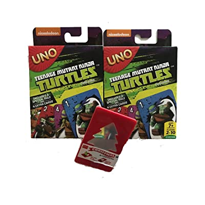 2 Pack UNO Teenage Mutant Ninja Turtles Edition with bonus Christmas in your Pocket Illuminated Tree: Toys & Games