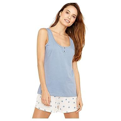 b97cdff8d6 Lounge   Sleep Womens Pale Blue Spot Print Pure Cotton Pyjama Set ...