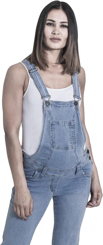 Wash Clothing Company Grace Salopette Premaman Lavato Chiaro Salopette Donna Denim palewash GRACEPW