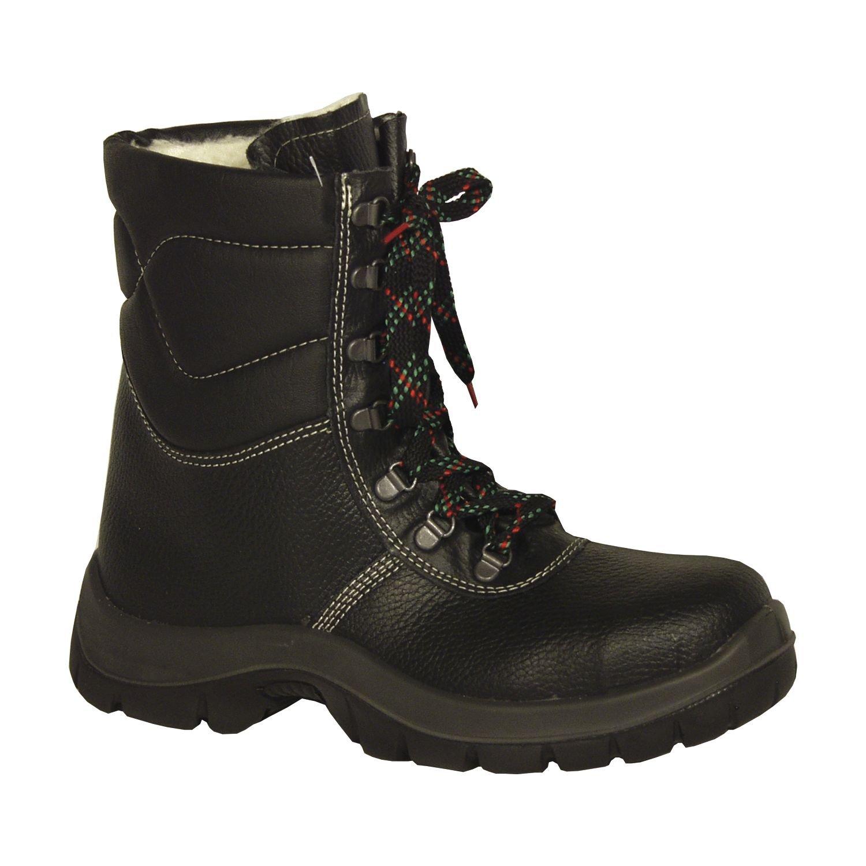 TALLA 45. Botas de cordones de invierno Botines de seguridad SAALFELD üK - S3 - con Puntera de acero - negro/gris
