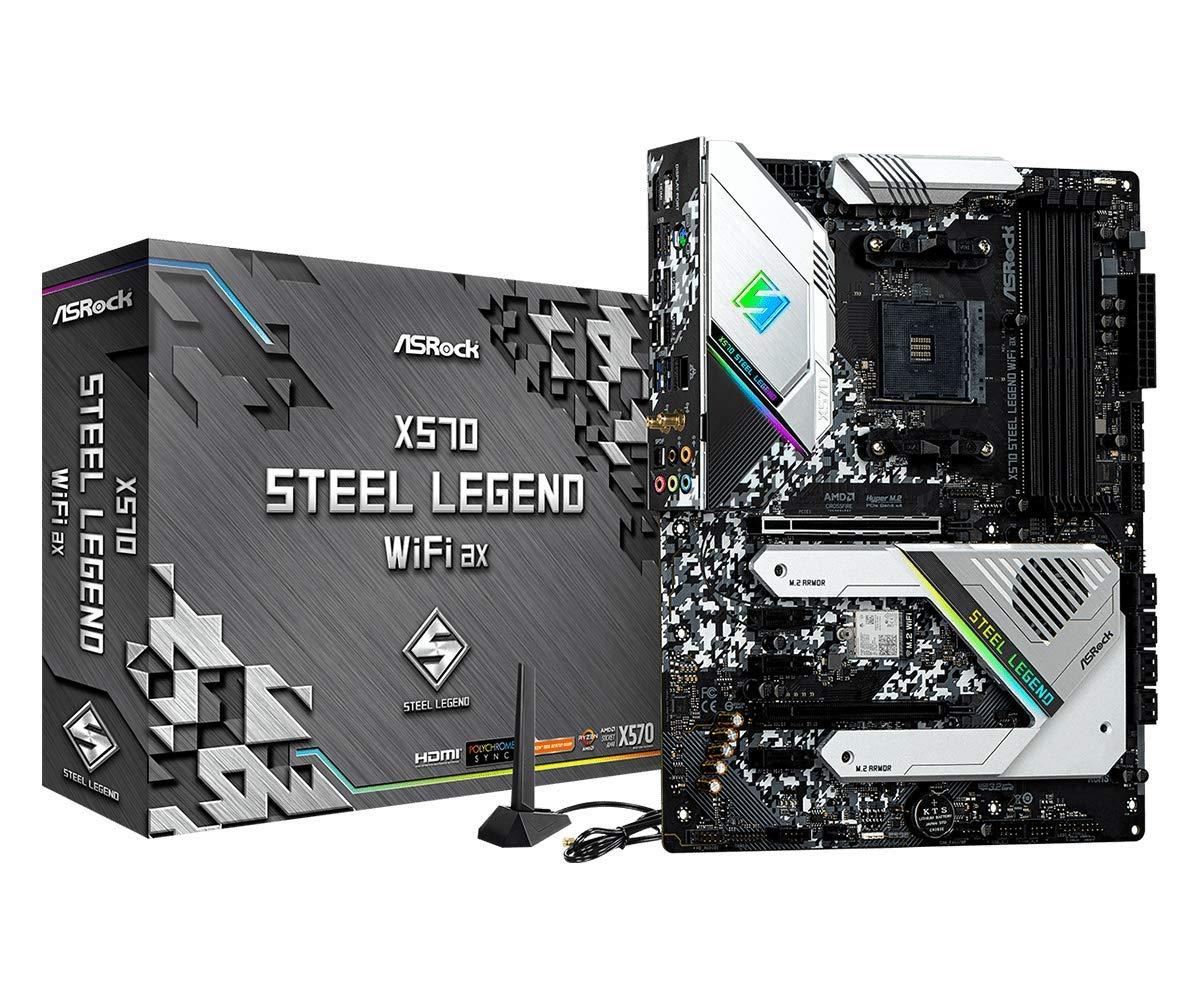 ASRock X570 Steel Legend WiFi AX AM4 AMD X570 SATA 6GB/S ...