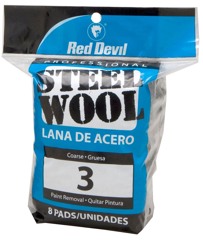 3 Coarse Red Devil 0316 Steel Wool 16 Pads