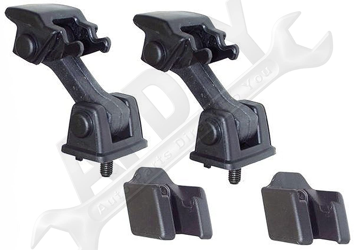 Includes Both Hood Catches; Replaces 55176636AD, 68038118AA APDTY 55176636K2 Hood Latch Rubber Catch Release Kit Fits 1997-2006 Jeep Wrangler TJ