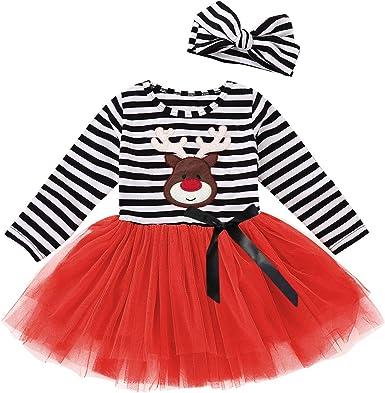 Kid Christmas Dress Toddler Lovley Santa Halloween Thanksgiving Costume 2-6T