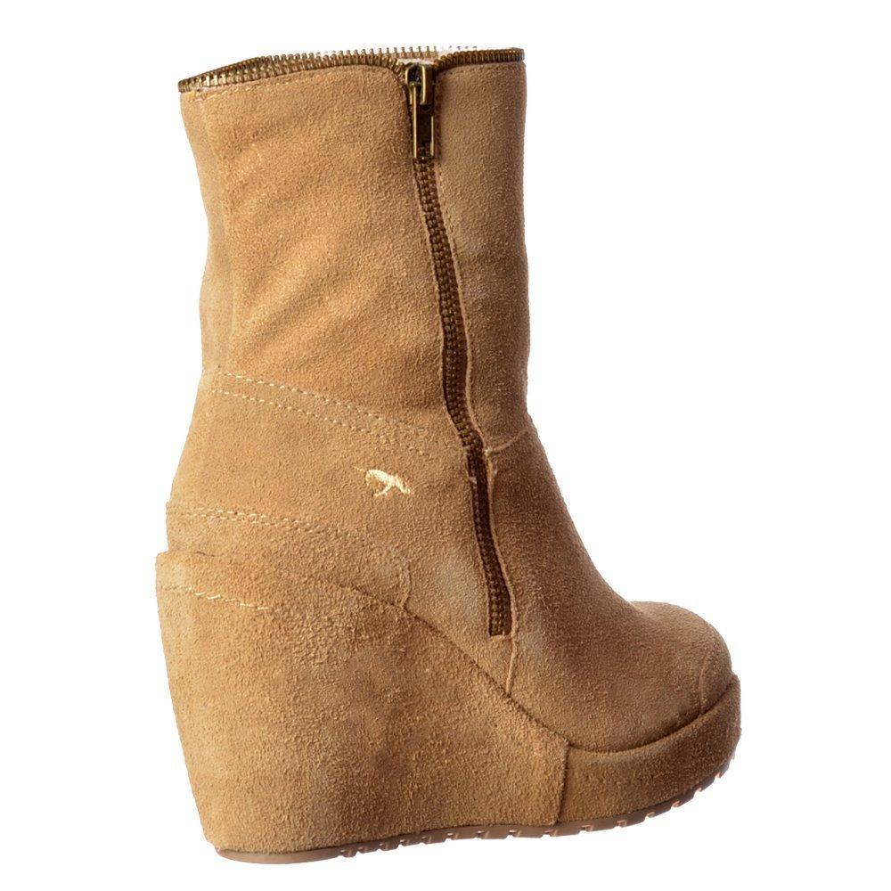 6b731ff01cb6 Rocket Dog Womens Ladies Boyd Fur Lined Suede Wedge Heel Platform Ankle  Boots - Black