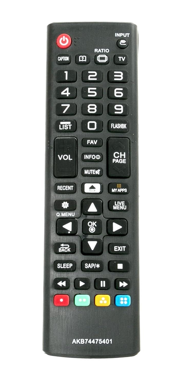 New AKB74475401 Replaced Remote fit for LG Smart TV 24LF4820 43UF6430 43UF6800 43UF7600 49LF5900 49UF6400 49UF6430 49UF6490 49UF6800 49UF6900 49UF7590 43UF6900 43UF7590 32LF595B 43LF5900 43UF6400 49UF7600 49UF7600-UJ 49UF7700 49UF7700UB 49UF7700-UB 50LF650