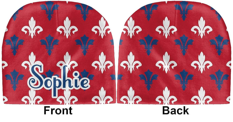 Blue Personalized Beanie Patriotic Fleur de Lis Baby Hat