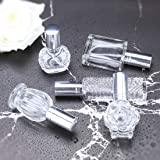 H&D Clear Refillable Glass Perfume Bottle