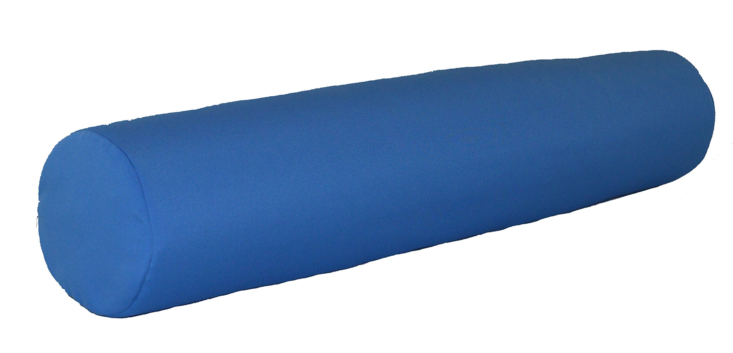A & L Furniture Sundown Agora 7'' X 36'' Bolster Pillow, 7'' diam. 36'' Long, Light Blue