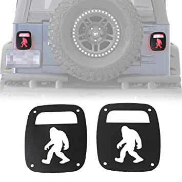 For 1997-2006 Jeep Wrangler TJ Rear Taillight Tail Light Aluminum Guards Covers