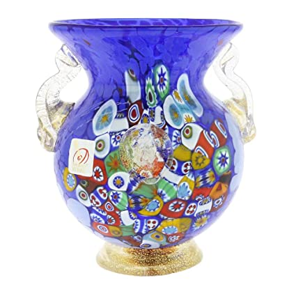 Amazon Glassofvenice Murano Glass Millefiori Urn Vase With Lion