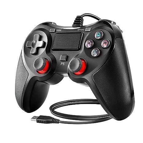 Powcan Controlador de PS4 Controlador con cable para Playstation 4 ...