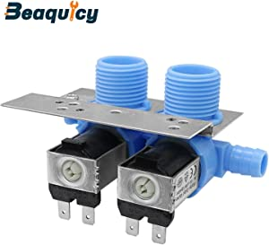 285805 Washer Water Inlet Valve Kit with Mounting Bracket by Beaquicy - Replacement for Whirlpool Kenmore Kitchen Aid Washing Machine