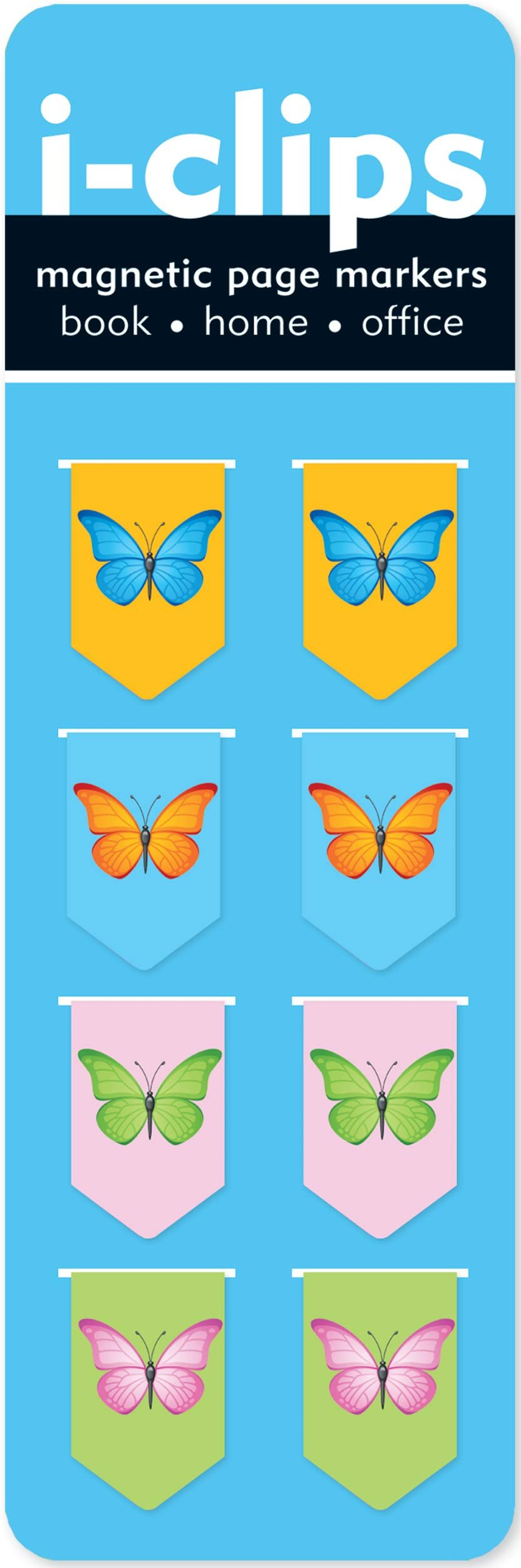 Butterflies i-Clip Magnetic Page Markers (Set of 8 Magnetic Bookmarks) Bookmark – Jul 25 2010 Peter Pauper Press 1441303774 Unclassifiable: WZ BIC Nonfiction /