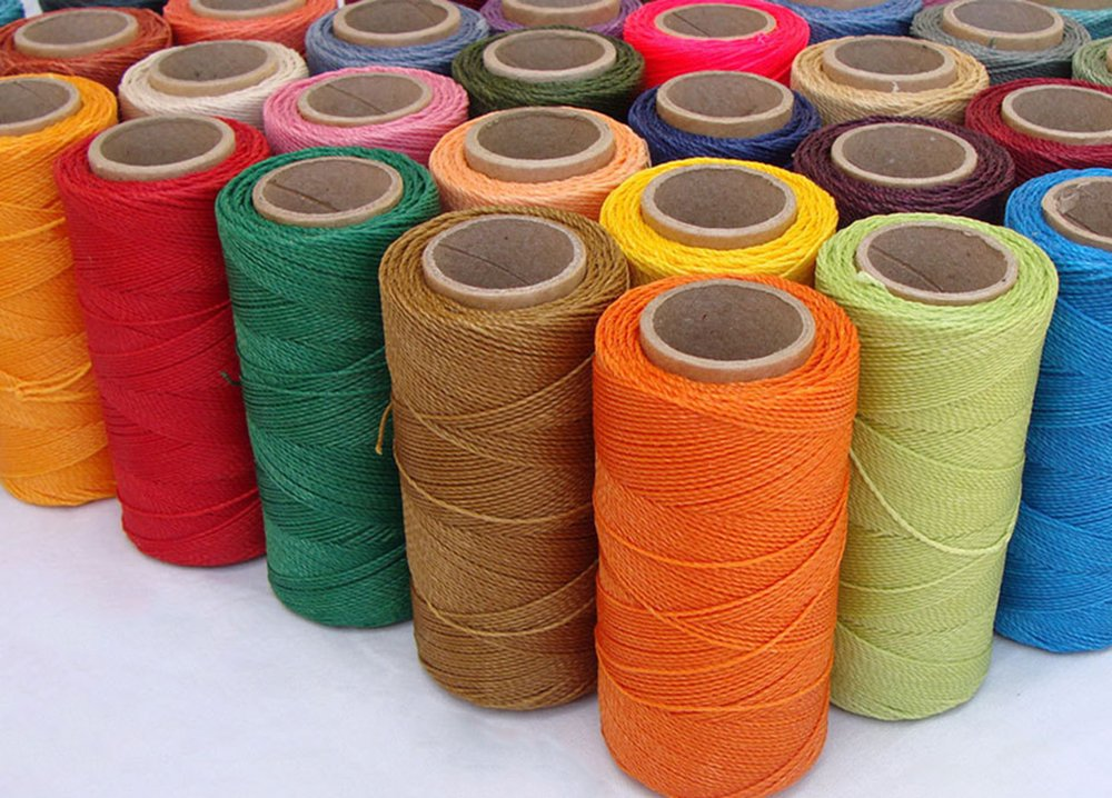 1mm Waxed Polyester Twisted Linhasita Cord Macrame Bracelet Thread Artisan String (Assorted 10 X 180yards Spool)