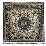 YILONG CARPET Yilong 5'x5′ Sqaure Oriental Rugs Classic Handmade Persian Silk Carpet for Living Room Blue Review
