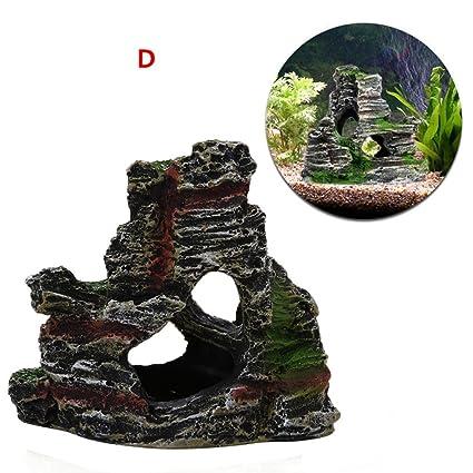 SO-buts Cueva para acuario, decoración de cuevas para pecera, cichlid, cangrejo
