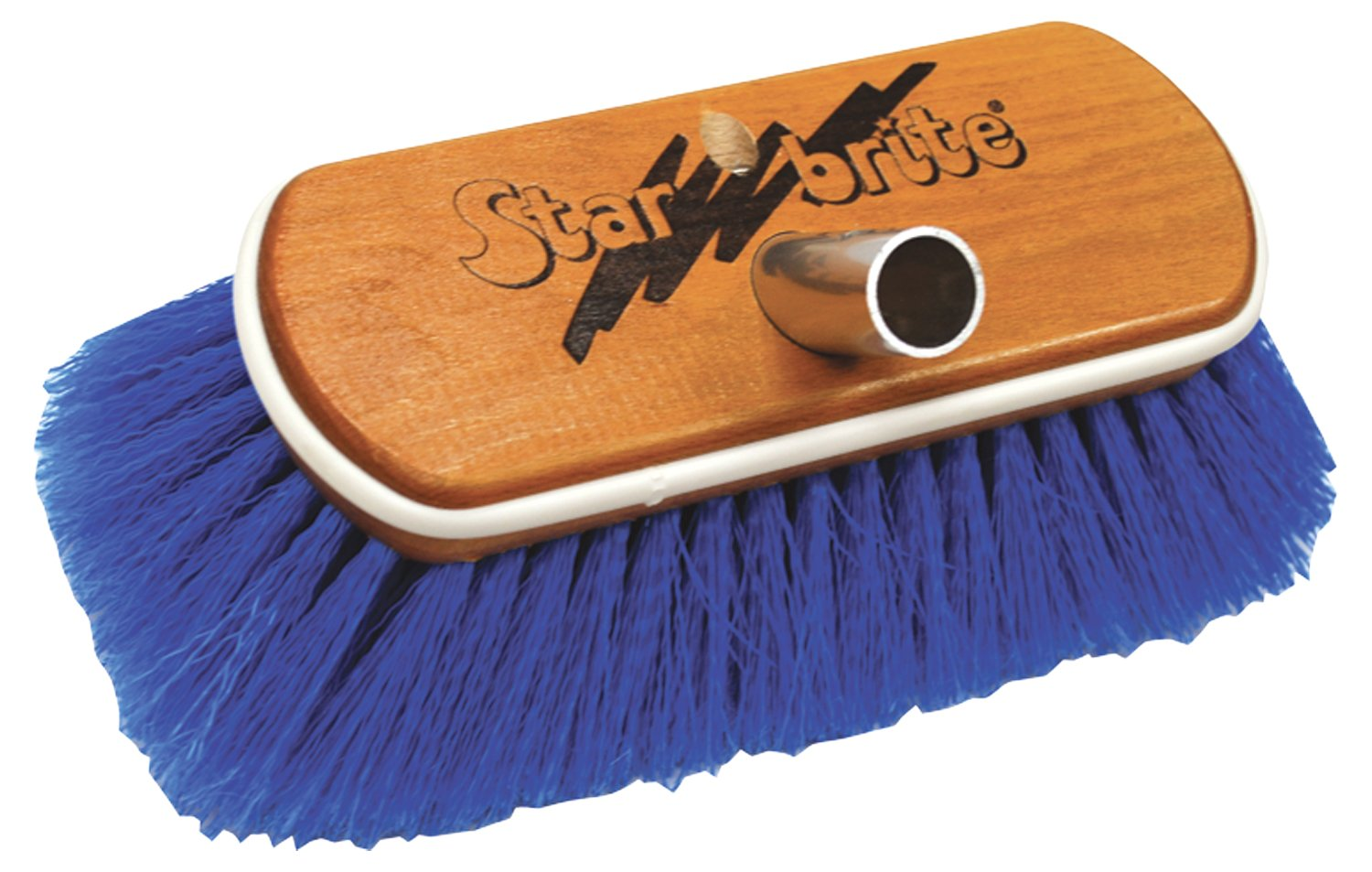 Star Brite Medium Wash Brush-Wood Block W/Bumper Brush (Blue)