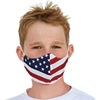 Youth Washable Face Mask with Adjustable Earloops & Nose Wire - Ages: 6-12