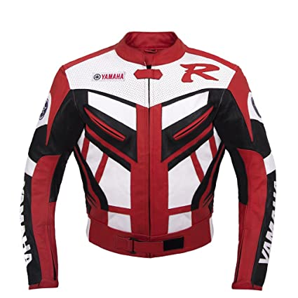 Amazon.com: Yamaha Red Racing Leather Jacket (XL (EU56 ...