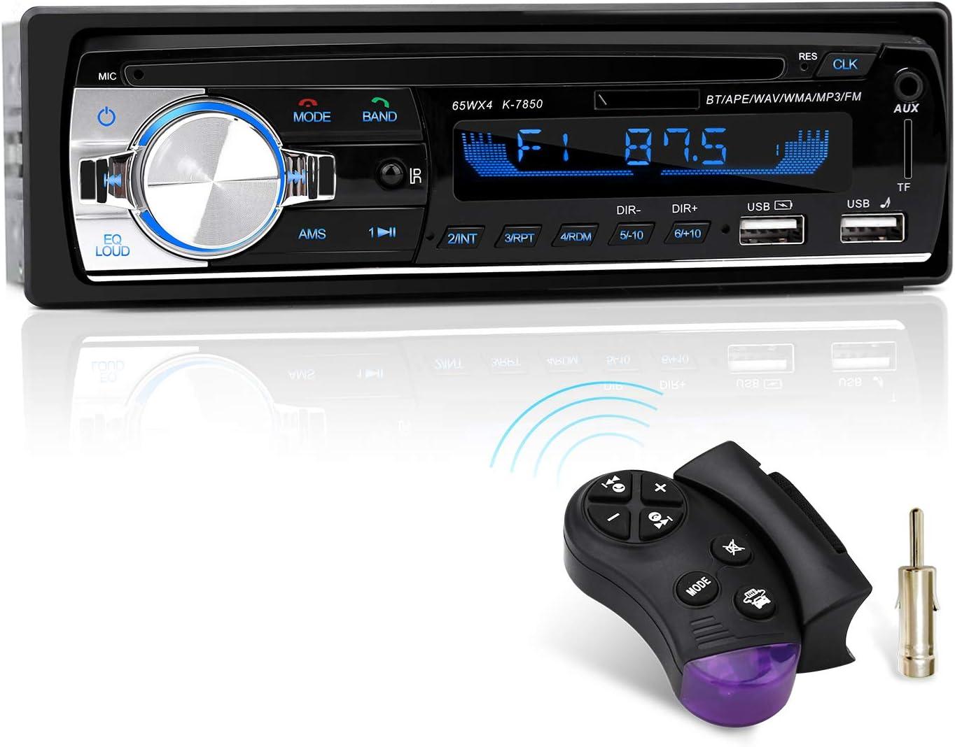 Autoradio Mit Bluetooth Freisprecheinrichtung Und Lenkrad Fernbedienung 1 Din Autoradio Mp3 Player Fm Radio 2 Usb Anschlüsse Für Musikspielen Und Aufladen Elektronik