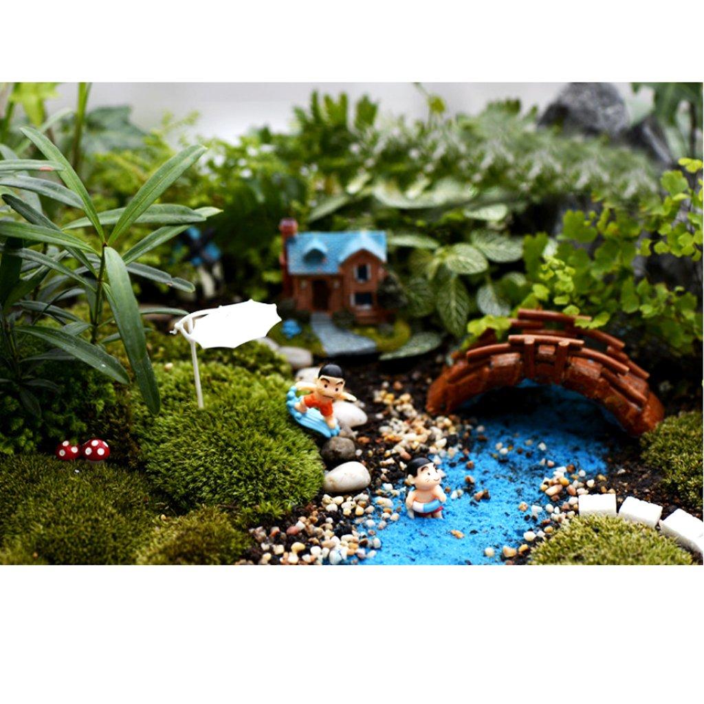 5 Conjunto De Casa De Munecas En Miniatura Bonsai Patio Con Jardin Paisaje De Playa Paraguas S Bricolaje: Amazon.es: Juguetes y juegos