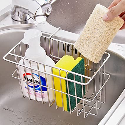 Amazon.com: AIYoo 304 Stainless Steel Sponge Holder, Kitchen Sink ...