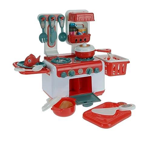 Markenlos Play Kitchen Set Cucina in plastica per Bambini Giochi ...