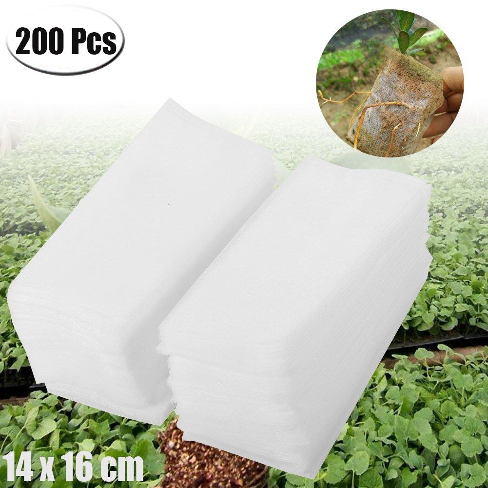 Mcree, 200 bolsas de guardería biodegradables sin tejido, bolsas ...