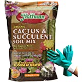 10 Quart Hoffman 10404 Organic Cactus and Succulent Soil Mixed Potting Soil for Outdoor and Indoor Plants, Tropical Perennial