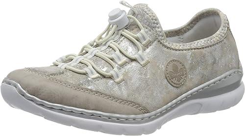 Rieker L3296 Femme Chaussures à Enfiler,Slip on,Occasionnel,Loisir