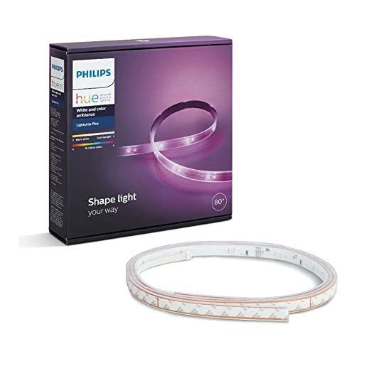 Philips Hue Lightstrip Plus (2m with plug) For Google Home, Apple HomeKit, Nest, Samsung SmartThings, Yale, Razer, IFTTT and Logitech