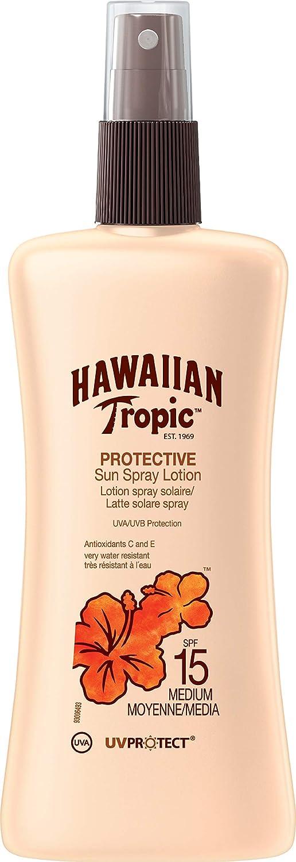 Hawaiian Tropic Satin Sun Lozione Spray, Protezione 8-200 ml Y00617A0