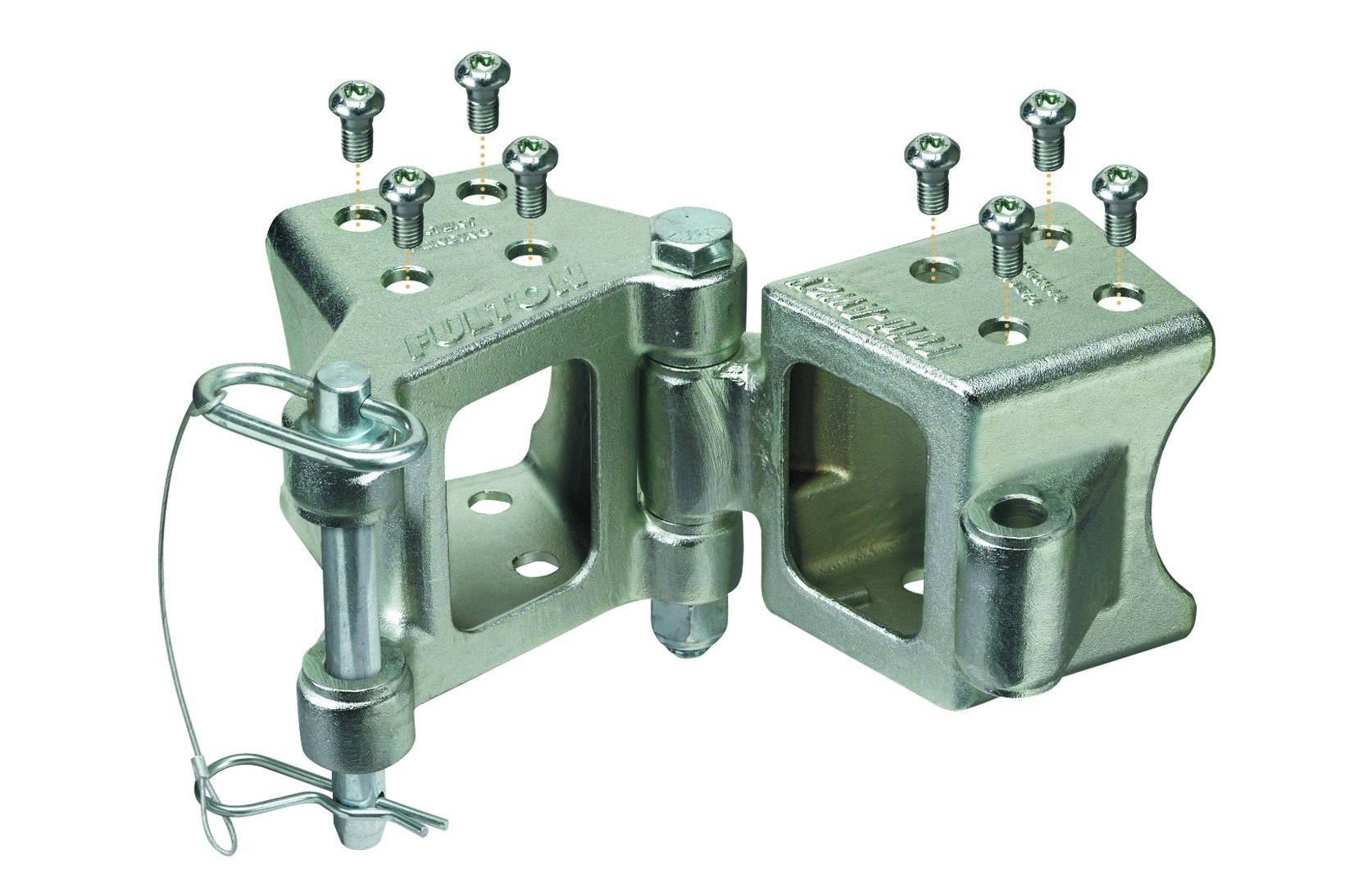 Fulton HDPB230101 Fold-Away Bolt-On Hinge Kit for 2'' x 3'' Trailer Beam - up to 5,000 lb. GTW