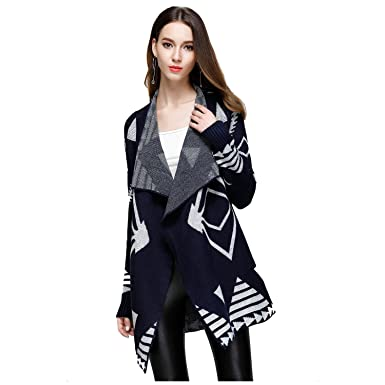 SODIAL(R) Women s New Elegant Warm Knitted Cardigan Female Sweater Spring  Autumn Fashion Knitting 0507e4030