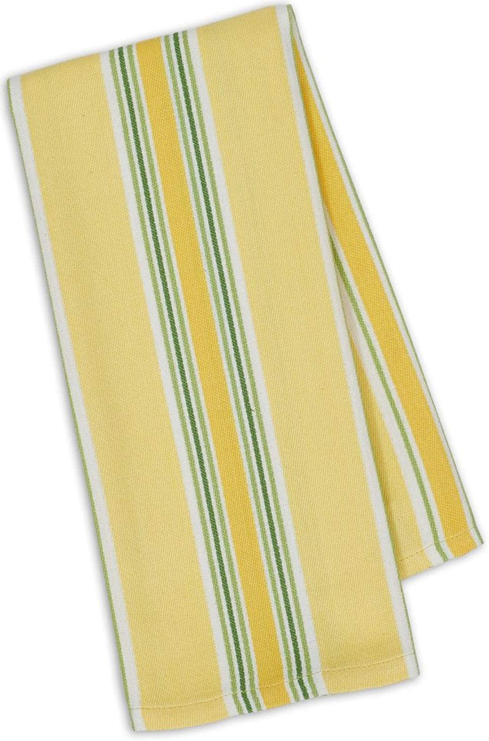 Design Imports Lemon Bliss Table Linens, 18-Inch by 28-Inch Dishtowel, Limoncello Stripe: Home & Kitchen