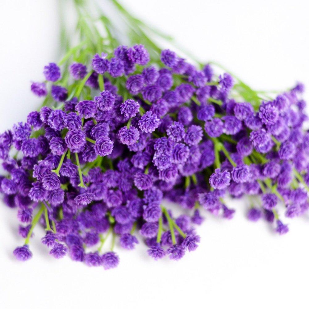 人工Babysbreath花、鮮やかな人工花with Long Stem for Flower Arrangementホームオフィスウェディングデコレーション as the descripiton パープル WBEG-0685X-Z B07BKVWCL4 色1