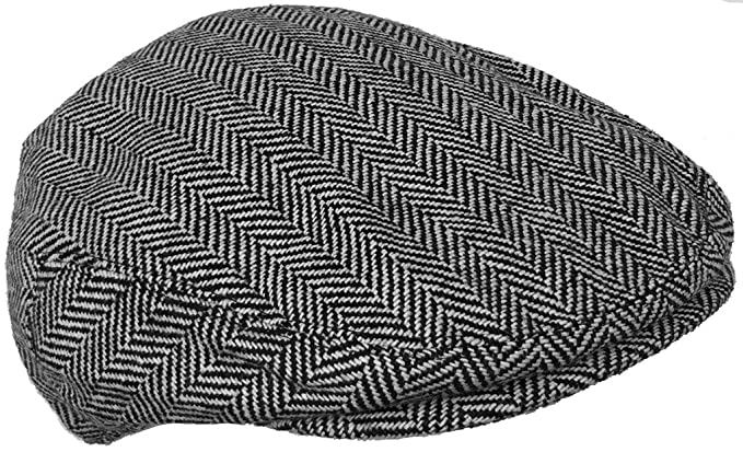 252d011bee8 Wool Blend Herringbone Winter Ivy Scally Cap Flat Driver Hat 5 Point ...