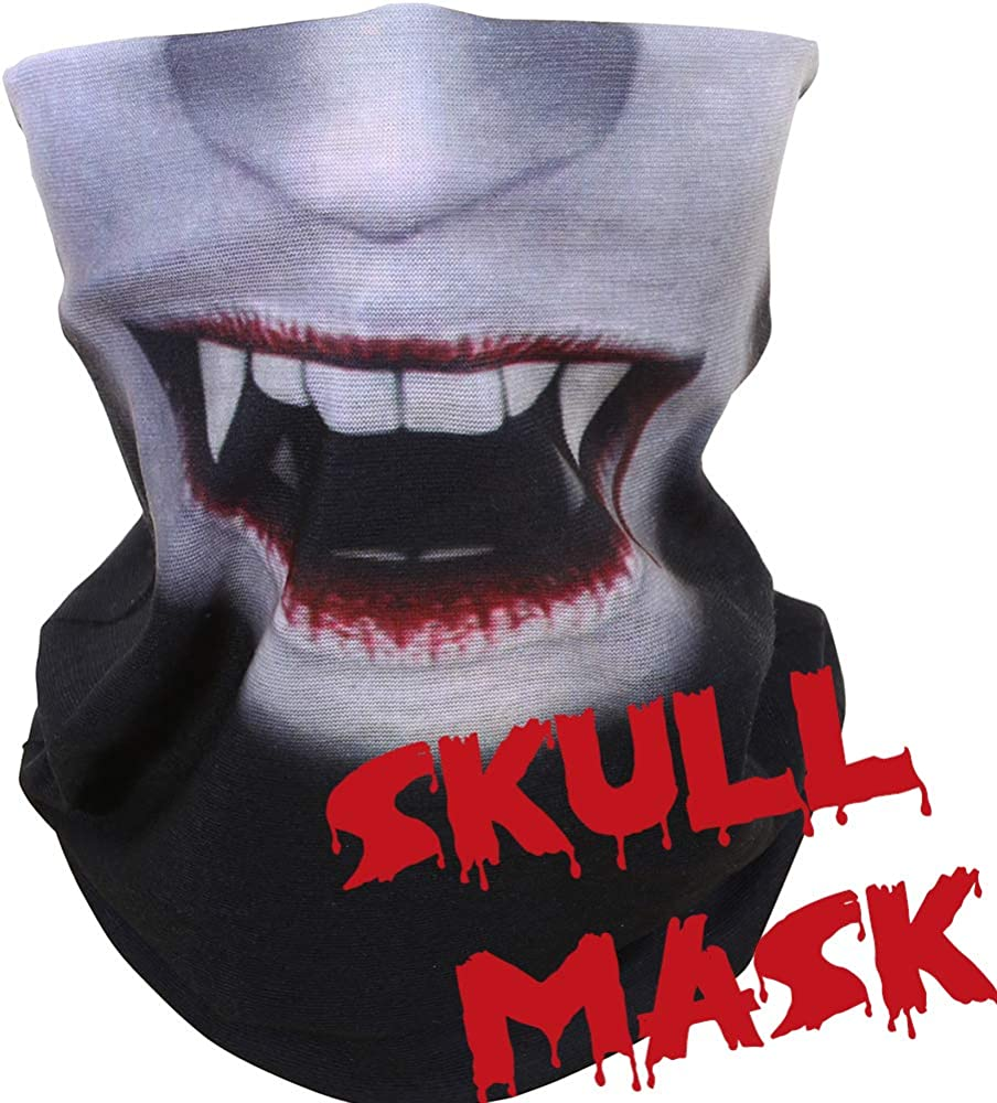 Yerwal Windproof Seamless Face Mask Bandana for Riding Cycling Motorcycle Multifunctional Headwear,9 pcs