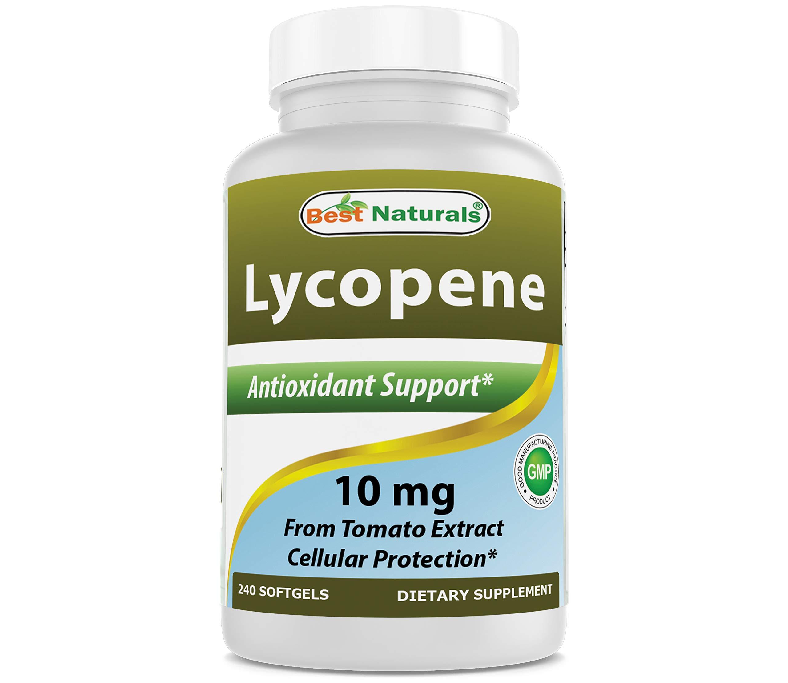 Best Naturals Lycopene 10mg Softgel, 240Count