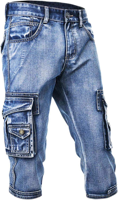 Idopy Men`s 3 Latest Credence item 4 Cargo Denim Biker Pocket Jeans Shorts with Multi