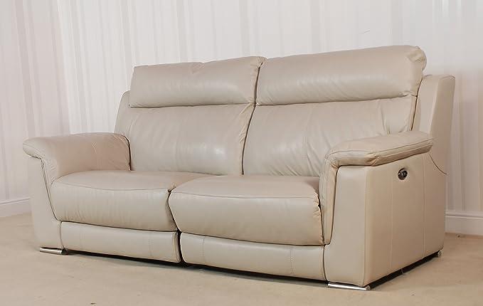 Funda para sofá de 3 plazas GLIDER de piel gris (77): Amazon ...