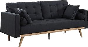 Divano Roma Furniture Madison Sofas, Dark Grey